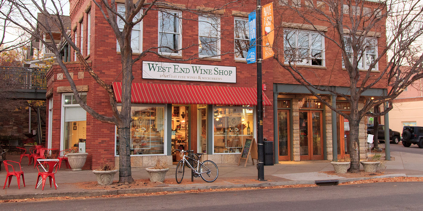 west end wine shop, boulder, co